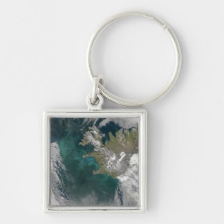 Phytoplankton bloom in the North Atlantic Ocean Keychain