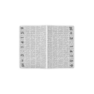 pi= 3.14159 Black White Math Science pi Day Digits Pocket Moleskine Notebook