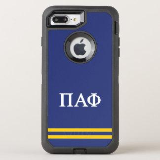 Pi Alpha Phi   Sport Stripe OtterBox Defender iPhone 8 Plus/7 Plus Case