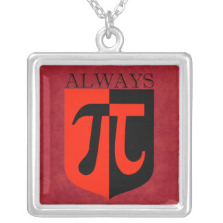 Pi Always Silver Plated Necklace
