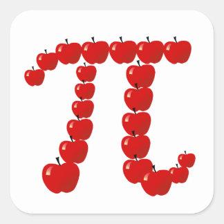 Pi Apples, Apple Pie Square Sticker