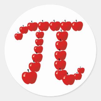 Pi Apples, Apple Pie Round Sticker