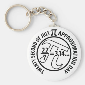 Pi Approximation Day Basic Round Button Keychain