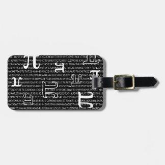 Pi are Square Luggage Tag