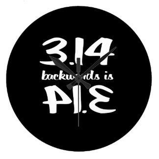 Pi Backwards is Pie Large Clock