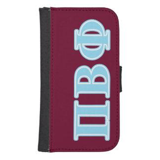 Pi Beta Phi Blue Letters Samsung S4 Wallet Case