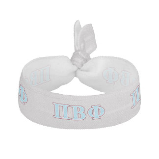 Pi Beta Phi Maroon and Blue Letters Hair Tie