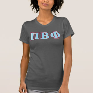 Pi Beta Phi Maroon and Blue Letters T-Shirt