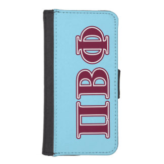 Pi Beta Phi Maroon Letters iPhone SE/5/5s Wallet Case