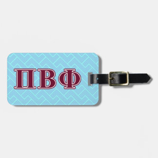 Pi Beta Phi Maroon Letters Luggage Tag