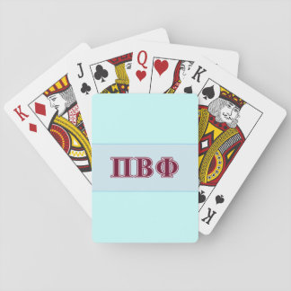 Pi Beta Phi Maroon Letters Playing Cards