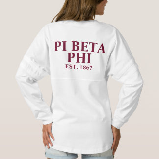 Pi Beta Phi Maroon Letters Spirit Jersey