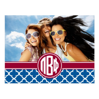 Pi Beta Phi | Monogram and Photo Postcard