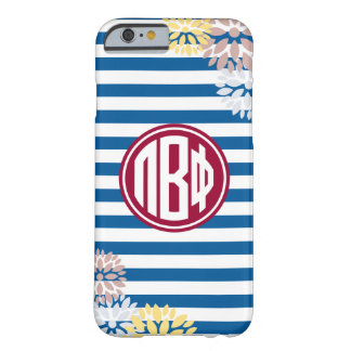 Pi Beta Phi | Monogram Stripe Pattern Barely There iPhone 6 Case