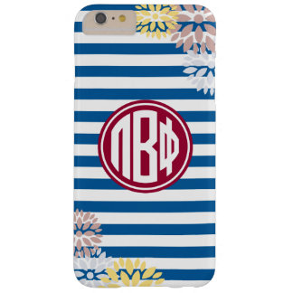 Pi Beta Phi | Monogram Stripe Pattern Barely There iPhone 6 Plus Case
