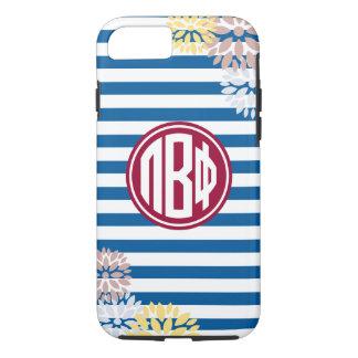 Pi Beta Phi | Monogram Stripe Pattern iPhone 7 Case