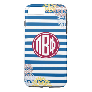 Pi Beta Phi | Monogram Stripe Pattern iPhone 7 Plus Case