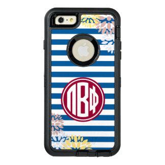 Pi Beta Phi | Monogram Stripe Pattern OtterBox Defender iPhone Case