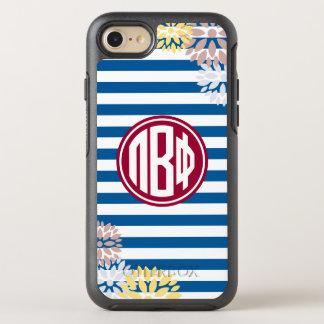 Pi Beta Phi   Monogram Stripe Pattern OtterBox Symmetry iPhone 8/7 Case