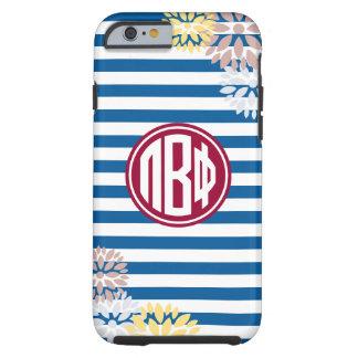 Pi Beta Phi | Monogram Stripe Pattern Tough iPhone 6 Case