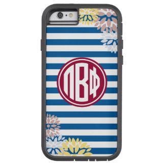 Pi Beta Phi | Monogram Stripe Pattern Tough Xtreme iPhone 6 Case