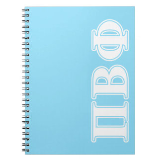 Pi Beta Phi White and Blue Letters Notebook