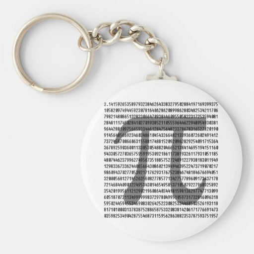 Pi by the Numbers Key Chain