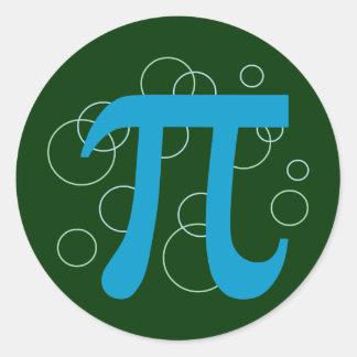 Pi Circles Classic Round Sticker