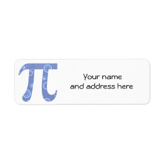 Pi Circles Return Address Labels