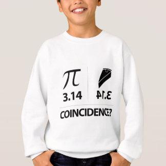 Pi Coincidence math joke Sweatshirt