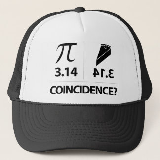 Pi Coincidence math joke Trucker Hat