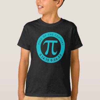 Pi Day 2015 Shirt Aqua for light or dark kids sh