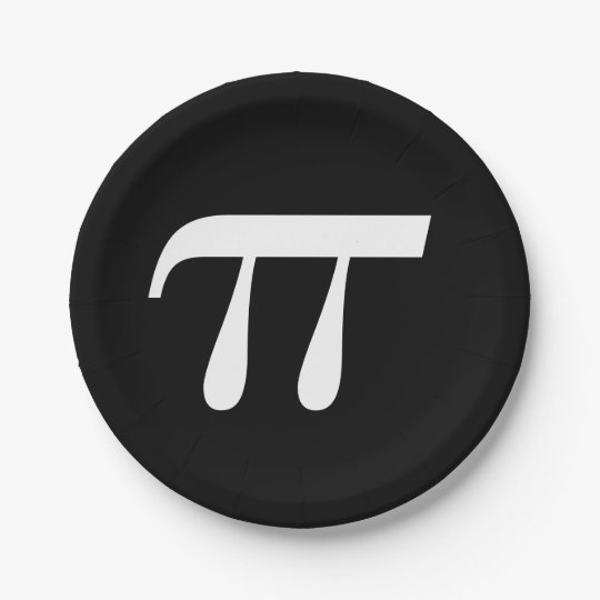 Pi Day 7 Inch Paper Plate