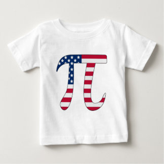 Pi Day American flag, pi symbol Baby T-Shirt
