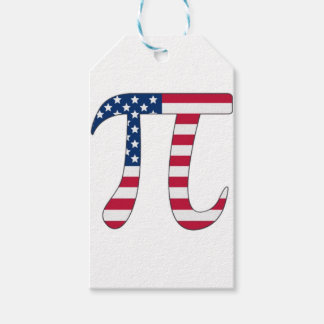 Pi Day American flag, pi symbol Gift Tags