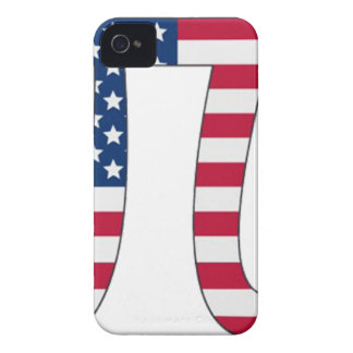 Pi Day American flag, pi symbol iPhone 4 Case