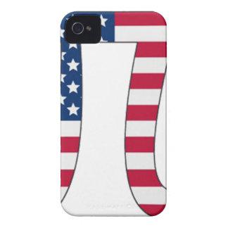 Pi Day American flag, pi symbol iPhone 4 Case-Mate Case