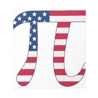Pi Day American flag, pi symbol Notepad