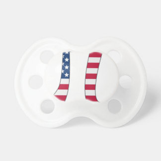 Pi Day American flag, pi symbol Pacifiers