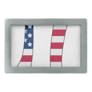 Pi Day American flag, pi symbol Rectangular Belt Buckle