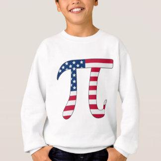Pi Day American flag, pi symbol Sweatshirt