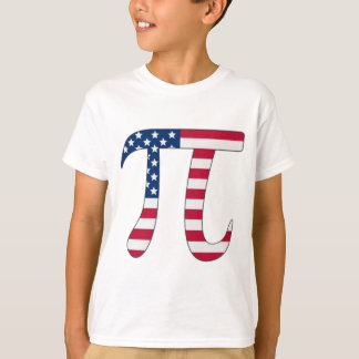 Pi Day American flag, pi symbol T-Shirt