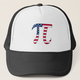Pi Day American flag, pi symbol Trucker Hat