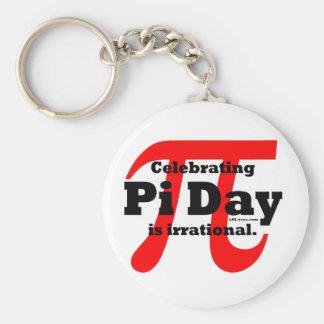 Pi Day Basic Round Button Keychain