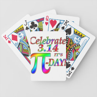 Pi Day Bicycle Playing Cards