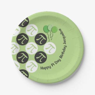 Pi Day Birthday Paper Plate
