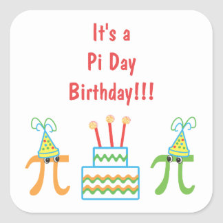 Pi Day Birthday Stickers