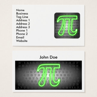 Pi Day Business Card