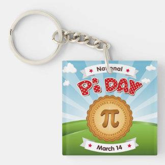 Pi Day, Celebrate Math, Eat Pie! Keychain