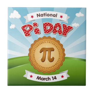 Pi Day, Celebrate Math, Eat Pie! Tile